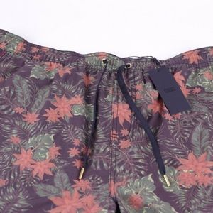 KITH Tilden Swim Trunks Black Floral Print